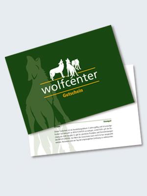 Wolfcenter, Onlineshop, Gutschein