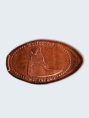 Wolfcenter, Onlineshop, Souvenirs, Prägemünzen, heulender Wolf