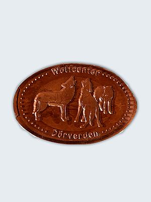 Wolfcenter, Onlineshop, Souvenirs, Prägemünzen, Rudel, Wolf, heulend