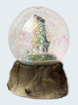 Wolfcenter, Onlineshop, Souvenirs, Schneekugel, heulender Wolf