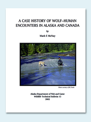 Wolfcenter, frank Faß, Studie, Kanada, A case Hhistory of Wolf - Human encounters in alaska and Canada