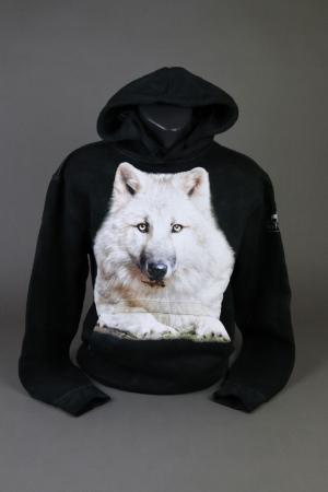 Wolfcenter, Onlineshop, Bekleidung, Hoodies, Wolf, schwarz