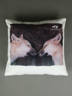 Wolfcenter, Onlineshop, Souvenirs, Kissen, Wolf, Welpen
