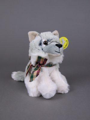 Wolfcenter, Onlineshop, Plüschtiere, Wolf, schleife
