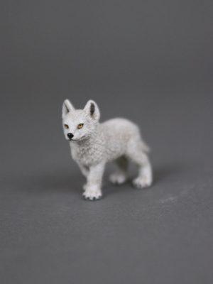 Wolfcenter, Onlineshop, Spielzeuge, Figuren, Polarwolfwelpe, weiß, Papo