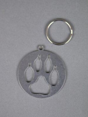 Wolfcenter, Onlineshop, Souvenirs, Schlüsselanhänger, Wolfspfote, Edelstahl