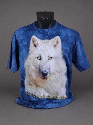 Wolfcenter, Onlineshop, Bekleidung, T-Shirts, Wolf, blau