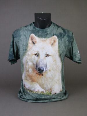 Wolfcenter, Onlineshop, Bekleidung, T-Shirts, Wolf, grün/grau