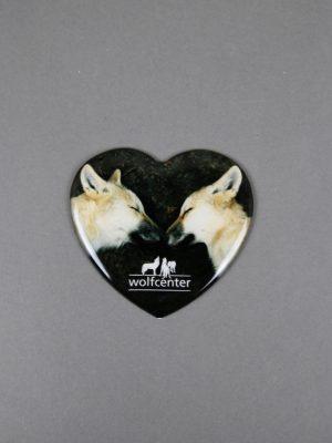 Wolfcenter, Onlineshop, Souvenirs, Magnete, Wolf, Herz