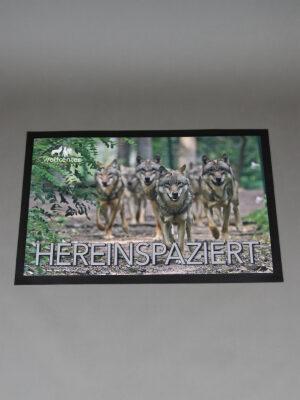 Wolfcenter, Onlineshop, Souvenirs, Fußmatten, Wolf, Rudel
