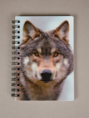 Wolfcenter, Onlineshop, Bücher, 3D Notizbuch, Wolf
