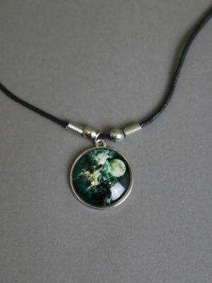 Wolfcenter, Onlineshop, Halskette, Medallion, Wölfe unter dem Mond